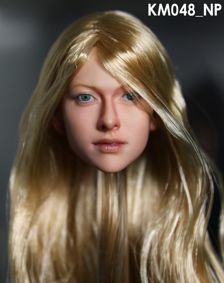 1/6 KUMIK Headplay Feminine Determine Head Carving Mannequin Stunning Woman KUMIK 048_NP Head Sculpt For 12″ Motion Determine Doll Toys