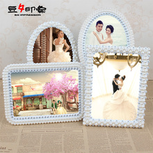 Hot 4Shape 5 Size Available Fashion Pearl Style Personalized Wedding 5 Rustic Photo Frame Perfect For Gift Classic Free shipping(China (Mainland))