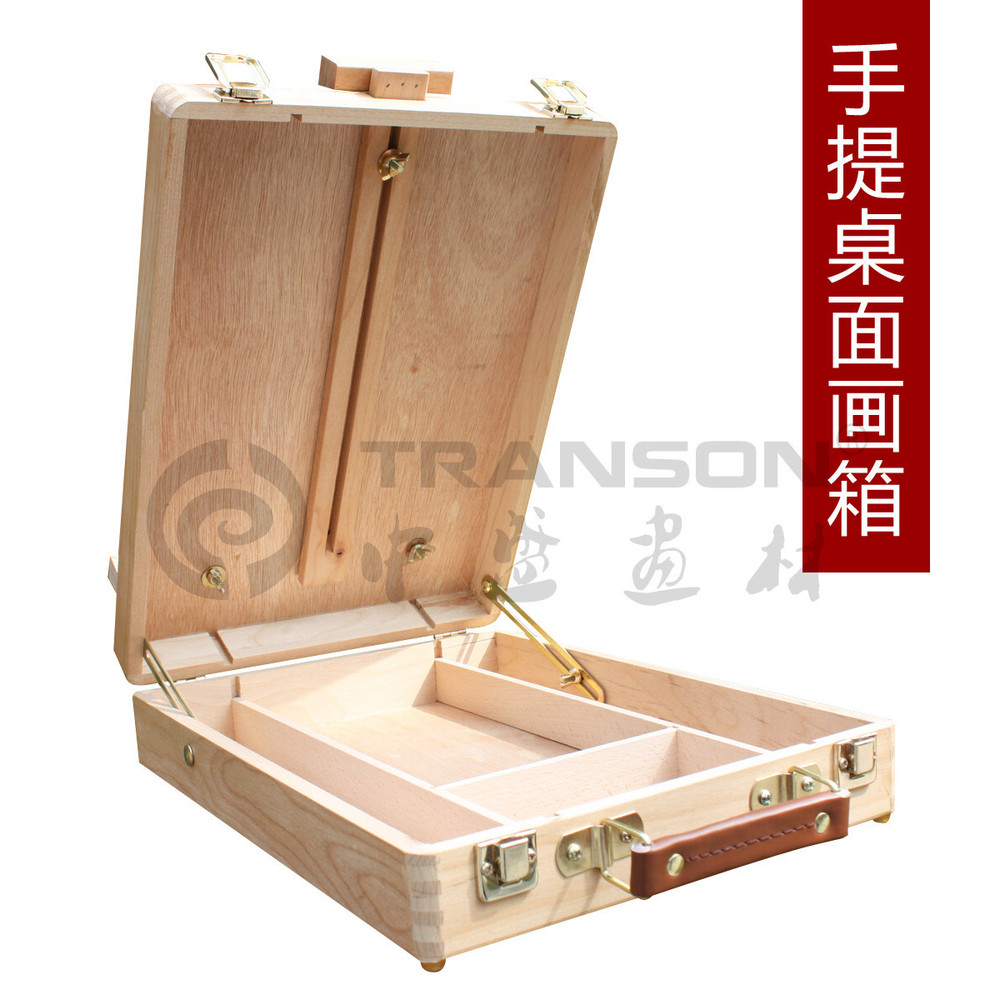 Adjustable wooden artist easel oil painting box with - Caballete para pintar ...