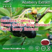 Natural Weight Loss Ingredients Garcinia Cambogia + Green Coffee Bean Extract +Acai berry Extract 500mg x 300caps free shipping