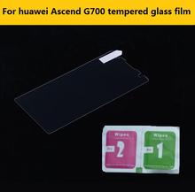 0.26 мм 2.5D 9 H закаленное стекло пленка для huawei Ascend G700 5.0 » анти-разбиться HD жк-1024 протектор фильмы для huawei Ascend G700