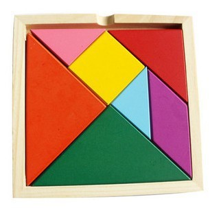 Free Shipping! Mental Development Tangram Wooden Jigsaw Puzzle Educational Toys for Kids 3pc/lot toys(China (Mainland))