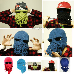 Beanies Hats For Beanie Adult Unisex Novelty 2015 New Hot Sales Octopus Products All Over World Trade Hat Free Shipping(China (Mainland))