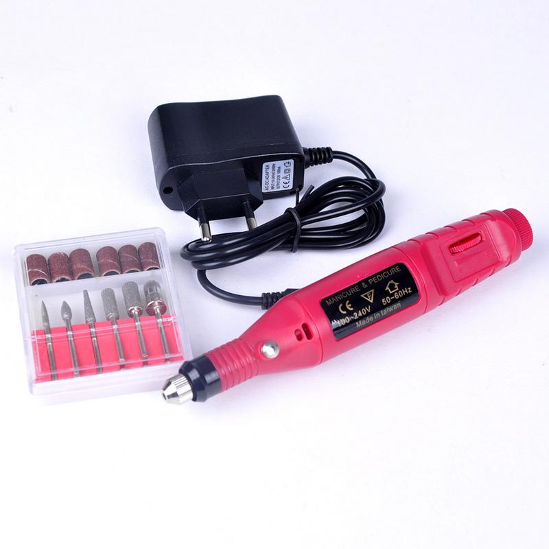1set 6bits 20000rpm Professional Electric Manicure Machine Nail Drill art Pen Pedicure File Polish Shape Tool Feet Care Product(China (Mainland))