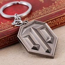 Buy 2016 New Fashion Llaveros Keychain Metal World Tank Game Logo Key Chain Chaveiro Keyring WOT Key Rings Men gift BF for $1.40 in AliExpress store