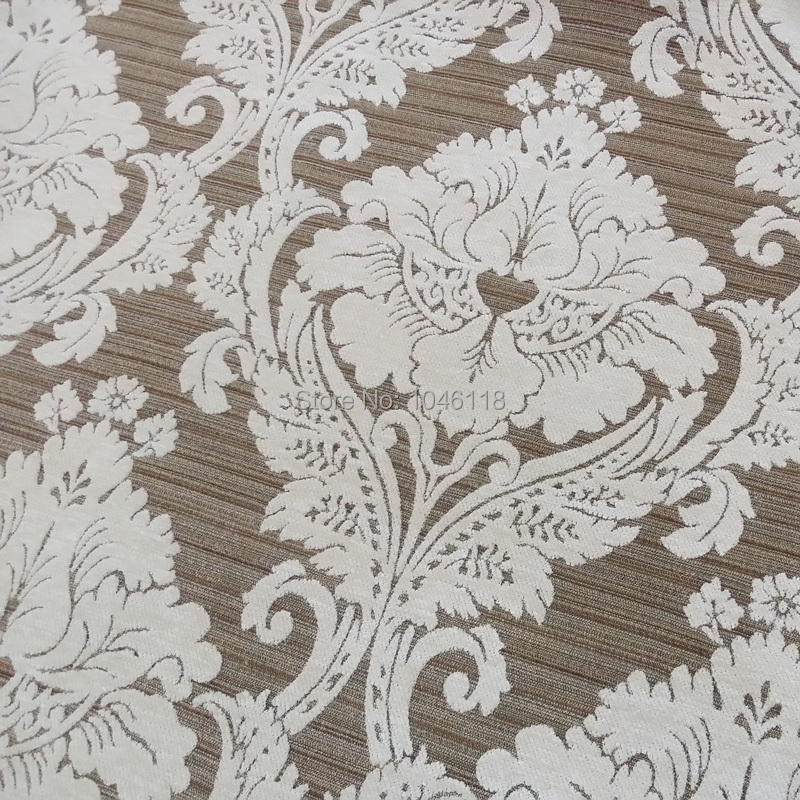 2016 Luxurious Damask Jacquard Heavy Chenille Sofa Chair Fabric For Villas Hotel Home Decoration Width 1.45 meter(China (Mainland))