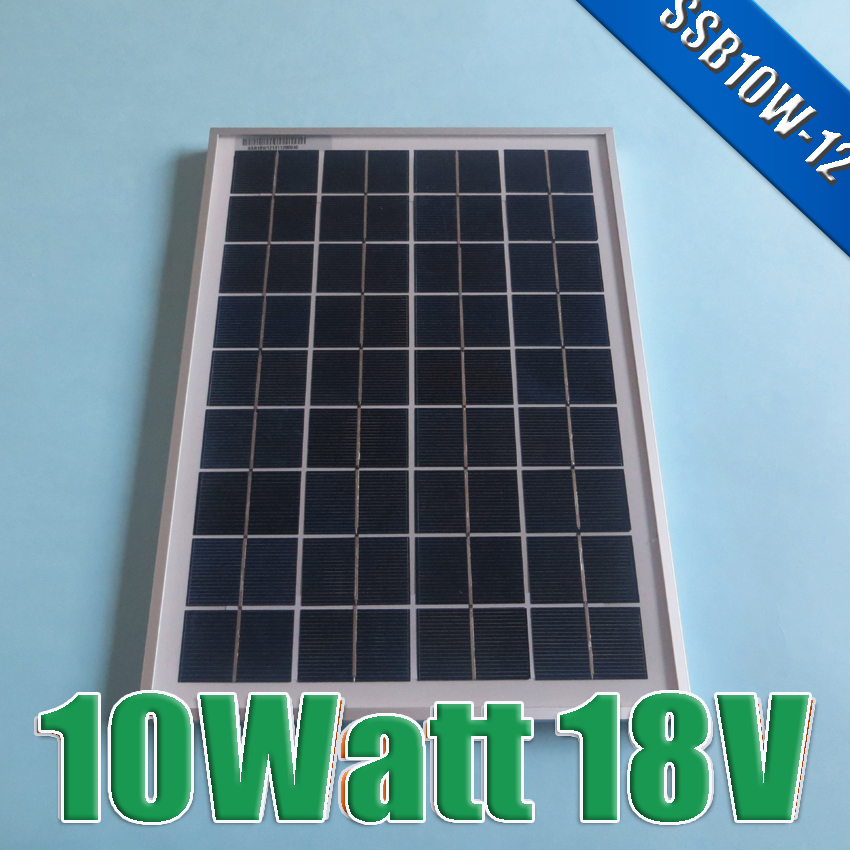 Hot Sale 10W 18V Polycrystalline silicon Solar Panel used for 12V photovoltaic power home system 10Watt(China (Mainland))