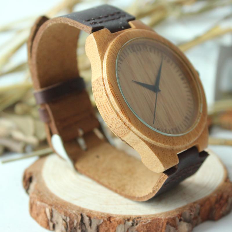 БОБО ПТИЦА Новое прибытие японский miyota 2035 движение наручные часы натуральная кожа бамбук деревянные часы для мужчин и женщин