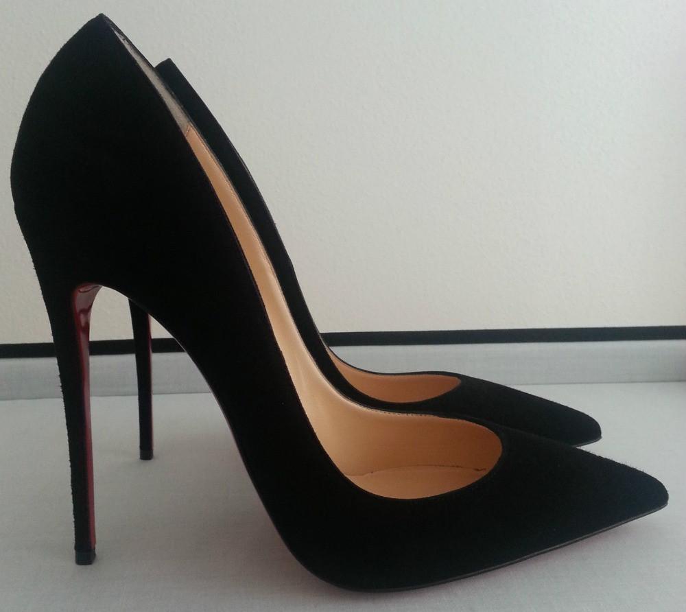 Black Pointed High Heels