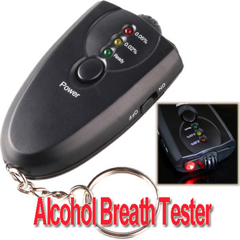 10pcs/lot Mini Accurate Breath Alcohol Tester with Flashlight Professional Digital Breath Alcohol Tester without LCD display