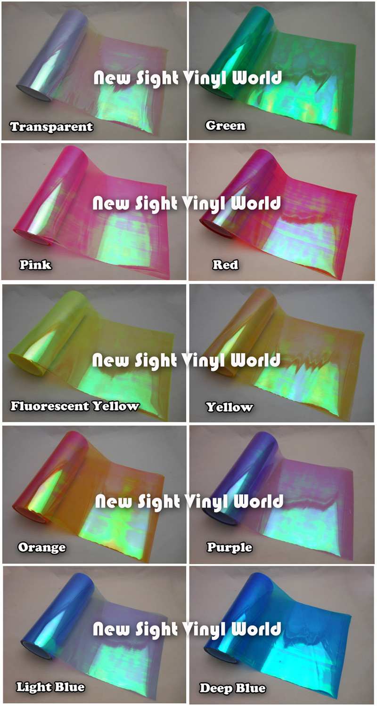 10 Rolls/Lot 10 Colors Rainbow Effect Car Light Chameleon Headlight Film Taillight Tint Film Vinyl Color Change Size:0.3*10M(China (Mainland))