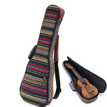 New Arrival Beautiful Soft Pad Cotton Folk Style Hand Portable Bag Case Cover For Ukulele 21''/23''/26'' Small Guitar Gig Bag(China (Mainland))
