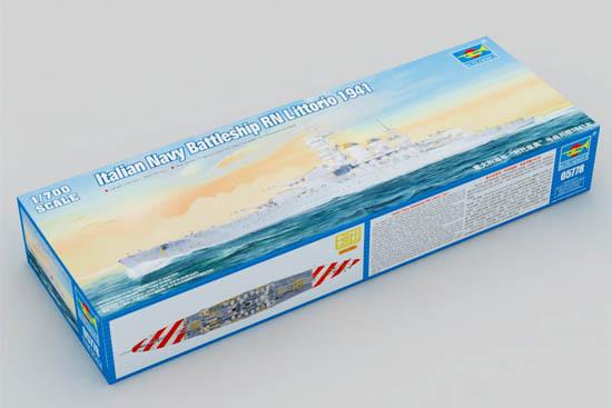"1:700 Italian Navy ""Littorio"" Battleship Assembled Model Free shipping(China (Mainland))"