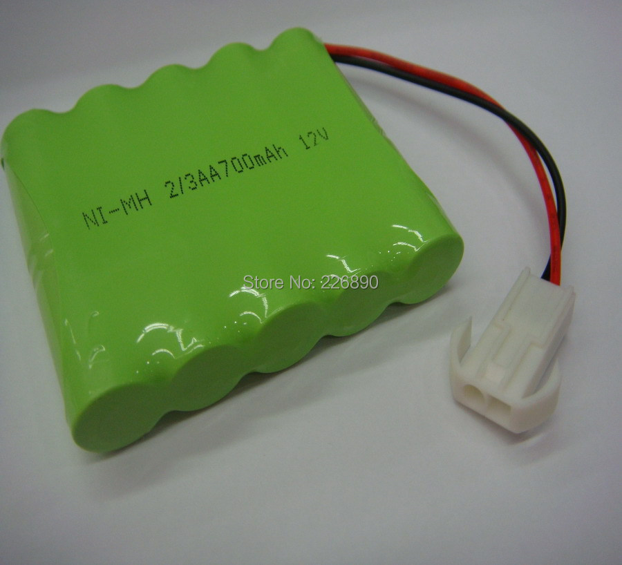 Samples support NiMh rechargeable battery pack 4C work 2/3AA*10pcs 700mAH 12V ,10packs/lot(China (Mainland))