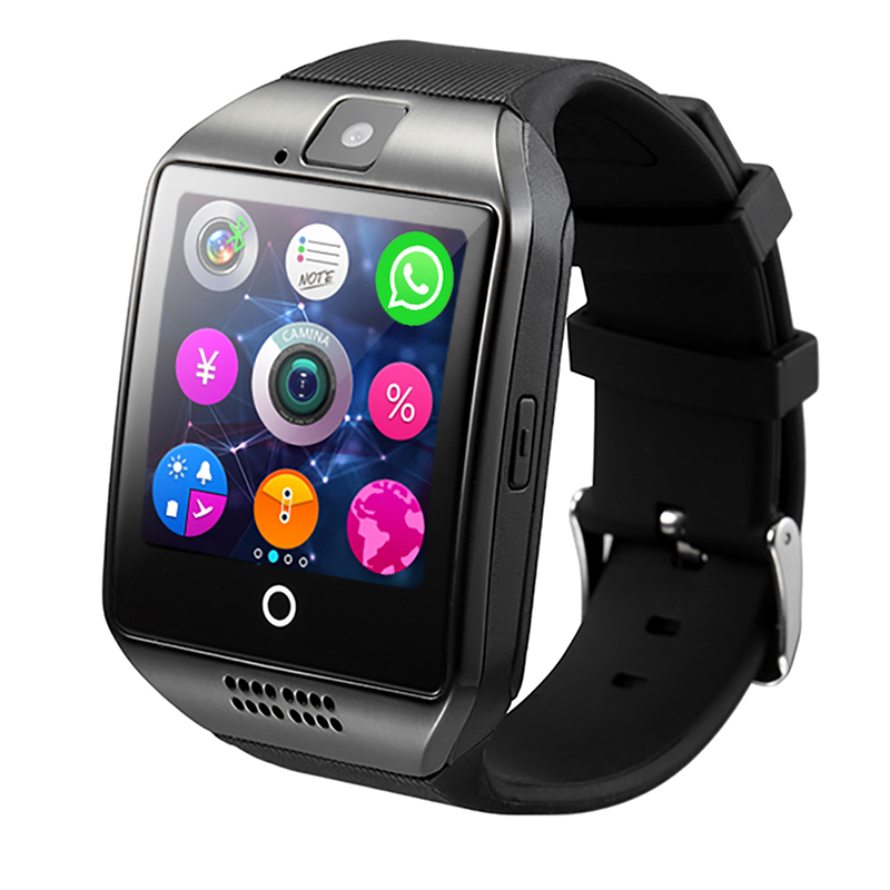 SCELTECH Bluetooth Smart Watch Q18 With Camera facebook Sync SMS MP3 Smartwatch Support Sim TF Card For IOS Android Phone(China (Mainland))