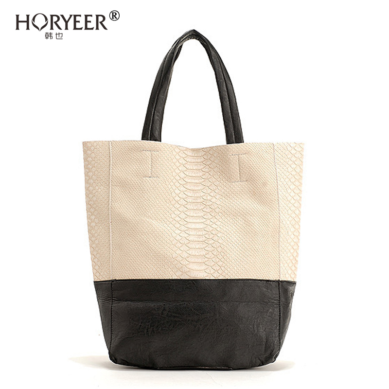 HORYEER famous brand bag designer handbags Women PU Leather Shoulder Tote luxury mixed colors shopping bags sac a main femme(China (Mainland))