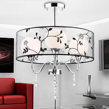 Handmade cloth shade K9 Crystal Chandeliers Top Sale Elegant Fabric Modern light for Home with Diameter 450mm led light lamp(China (Mainland))