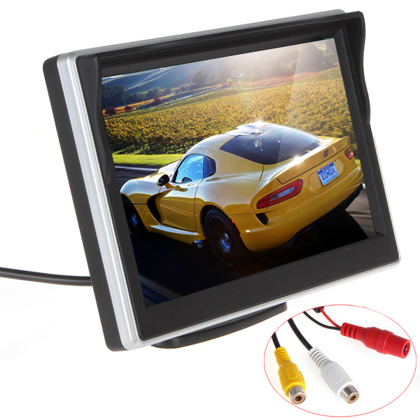 Wholesale 5 Inch TFT LCD screen Car Monitor Car Reversing Parking Monitor for Rearview Camera VCD/DVD/GPS,10pcs/lot(China (Mainland))