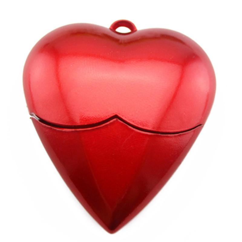 Red Heart USB Flash Drive Pen Drive Memory Stick 4GB u disk 8GB 16GB 32GB 64GB Flash Drive Pendrive USB 2.0 U Disk free shipping(China (Mainland))