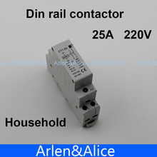 CT1 2P 25A 220V/230V 50/60HZ Din rail Household ac contactor  2NO(China (Mainland))