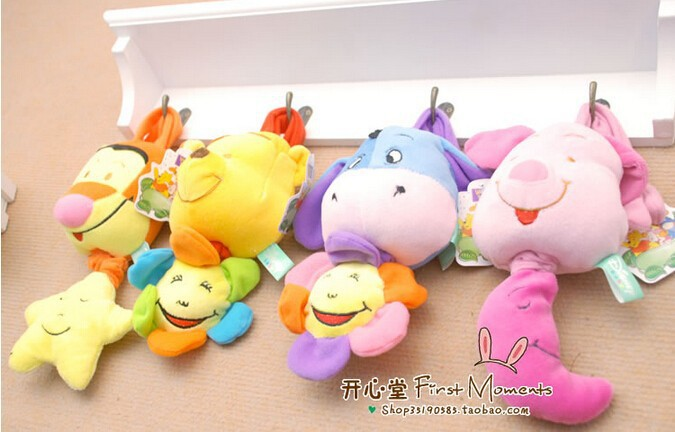 Newborn Baby Bed hanging/bed bell Rattles infant Music Box Dance Early Development Educational Plush Toy 1pc/lot high quality(China (Mainland))