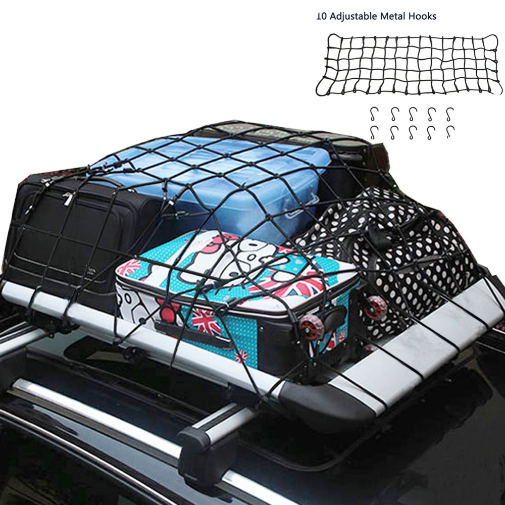 "19.6"" x 59"" Universal Car SUV Truck Trailer Elastic Bungee Roof Luggage Rack Bungee Cargo Net - Stretches to 35"" x 78""(China (Mainland))"