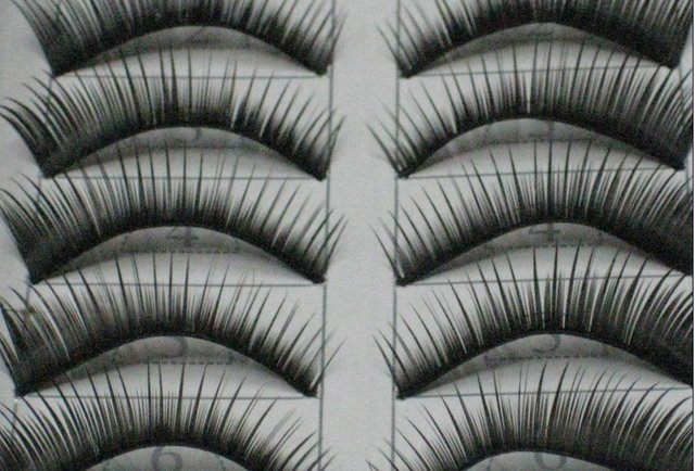 free shipping Hand-made False eyelashes 100pairs /lot (10pairs=1 box)  C004