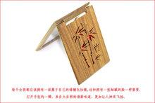 sandalwood mirror pocket mirror bamboo pattern 7.8X5.8cm(China (Mainland))
