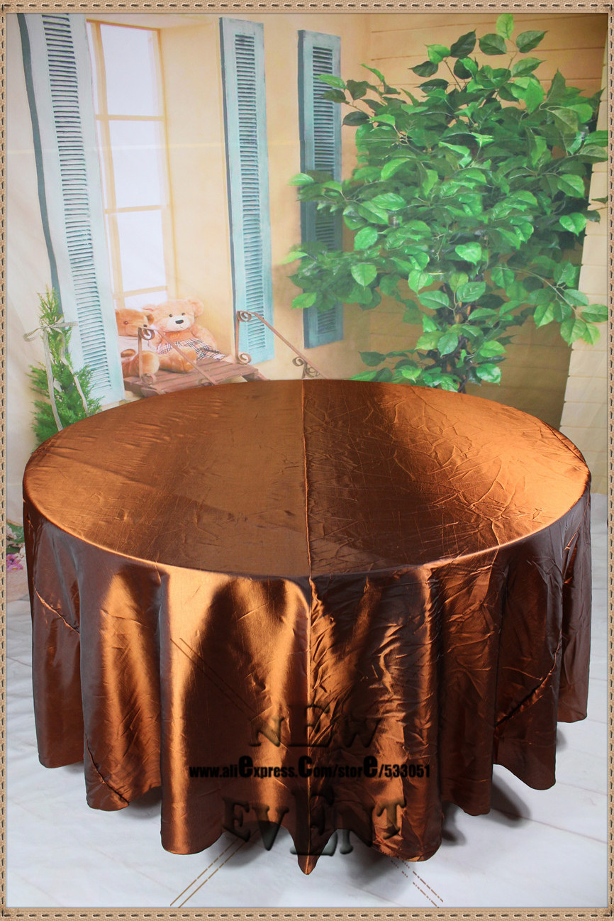 "New Design For 2016 90"" 108"" 128"" Copper Taffate Tablecloth For Wedding Party Hotel Home Decorations/Wedding Supplies(China (Mainland))"