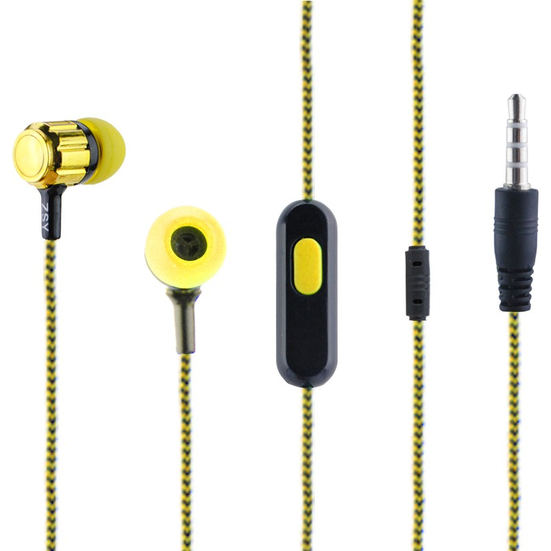 New Arrival 3.5mm In-Ear Earphones Earbuds Headphone Headset Handsfree With Micphone Stereo For Samsung Iphone Huawei Laptop