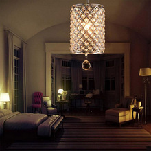 TomDa-Contemporary Crystal Drop Chandelier  Light in Cylinder Style(China (Mainland))