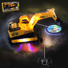 Electric engineering vehicles toys,1:22 Wireless Excavator , 4-channel  remote control, Large excavator truck, free shipping(China (Mainland))