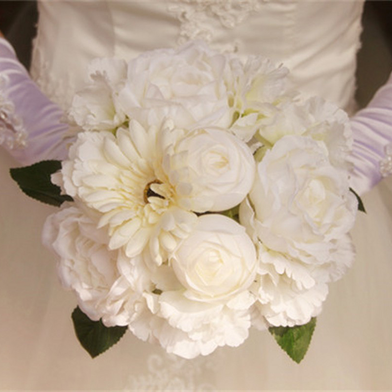 Top Quality Artificial Flowers Cheap Artificial Wedding Bouquet Peony