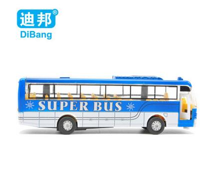Free shipping children's toys alloy car model toy bus with light and music to children's toys birthday gift(China (Mainland))