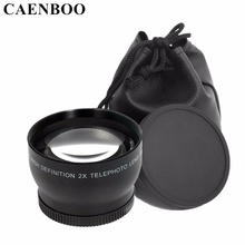 Buy CAENBOO 2.0x37mm 43mm 46mm 52mm 55mm Digital High Definition 2.0X Telephoto Camera Lens Canon EOS Nikon Sony Accessories for $18.59 in AliExpress store