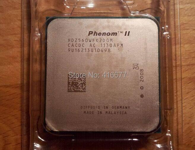 x2 560 CPU Phenom II X2 560 1M 3.3G Socket AM2+/AM3 938-pin Desktop CPU HDZ560WFK2DGM Desktop Original disassemble Processor(China (Mainland))