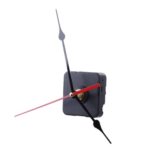 Clock Movement Mechanism Black Hour Minute Red Second Hand DIY Tools Set, IN STOCK, FREE SHIPPING(China (Mainland))