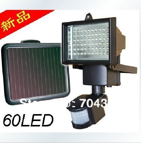 Solar White 60LED SECURITY FLOOD LIGHT SHED GARAGE MOTION SENSOR light(China (Mainland))