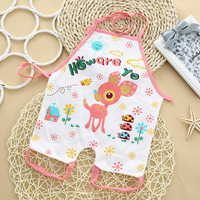 (2pcs) 100% Cotton Fashion Baby Boy Girl Bibs Burp Clothes Kids Apron Belly Circumference Infant 0-12M