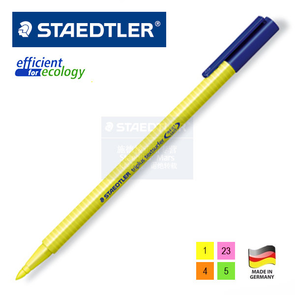 362 trigonometric staedtler neon pen green