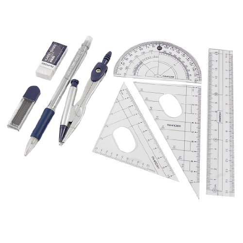 WSFS Wholesale 2 X 8 In 1 Protractor Compass 15cm Straight Ruler Rulers Set w Case<br><br>Aliexpress