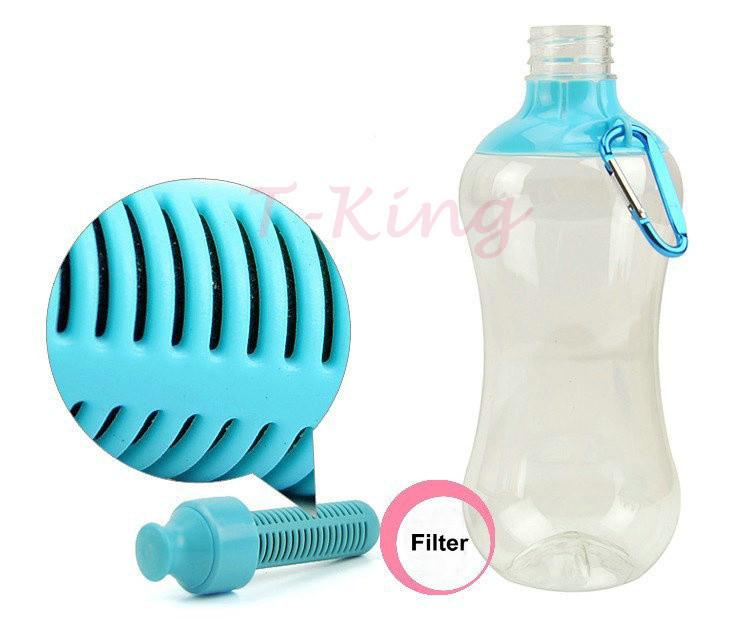 Бутылка для воды mit wasserflasche aktivkohlefilter hei er verkauf 550 fl ssigkeitszufuhr gefiltert Trinkwasser f r Sportklettern