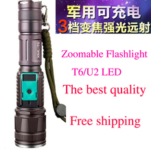 U2 Upgrade L2 chip 3800LM High power 18650 rechargeable aluminum alloy zoom focus torch usb led flashlight  for riding  hunting(China (Mainland))