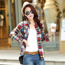 Buy 2017 Hot sale spring/summer women fashion Plaid shirt,Female large size long sleeve blouse cultivate one's morality for $18.99 in AliExpress store