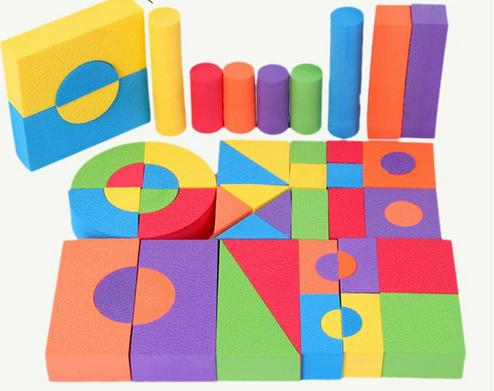 Geometric Form  Eva Mushy Toy Secure Foam Constructing Blocks Youngsters Academic Toys 50pcs/set