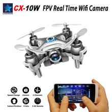 Cheerson CX-10W CX 10W Mini Drone Quadrocopter RC Nano WIFI Drone with FPV Wifi Camera 6AXIS CX10W(China (Mainland))