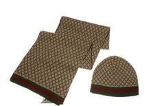 Hot Brand Designer Men's Knit Scarf Beanies Set High Quality Best Price Free Shipping  Luxury Brand Winer Scarf Cap Set Hot(China (Mainland))