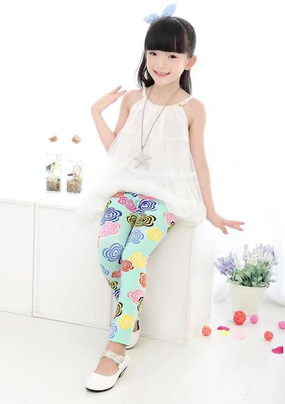 free shipping 1pc retail cheap baby girl flower leggings kids brand skinny pants children butterfly trousers