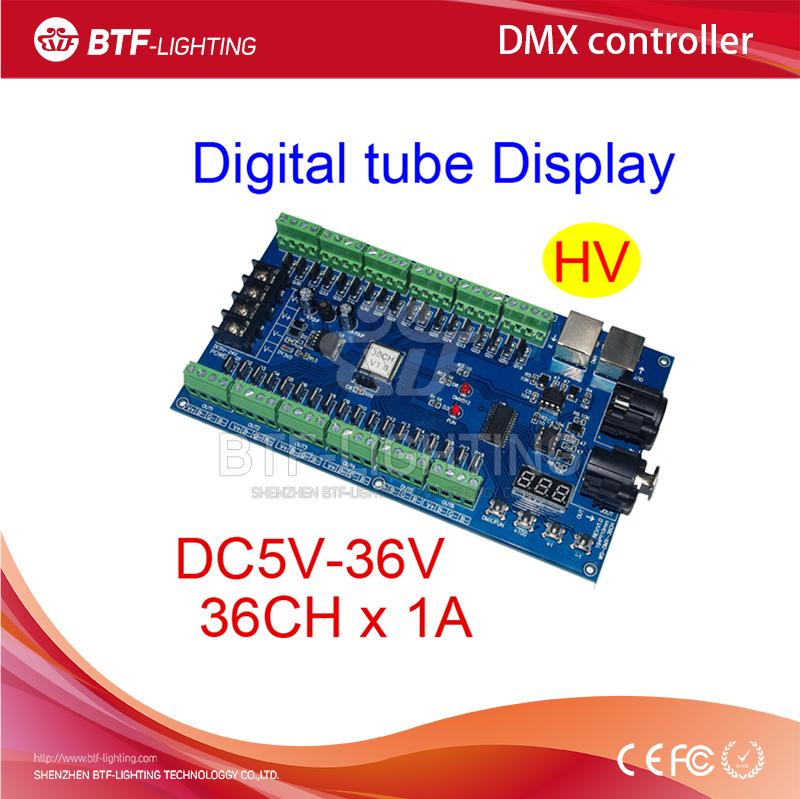 36CH RGB dmx512 Controller decoder, 36 channel-HV 13groups RGB output, DC5V-24V for LED strip light, RGB dump node, LED module(China (Mainland))