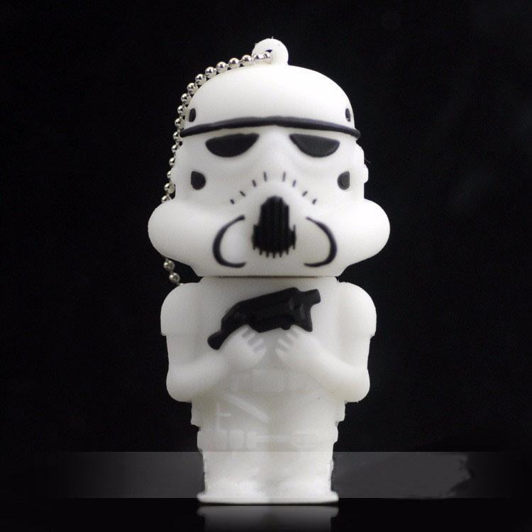 Hot 2015 Star War stormtrooper soldier 4GB 8GB 16GB 32GB 64GB usb flash pen drive memory stick pendrive gift Storm Cavalry(China (Mainland))
